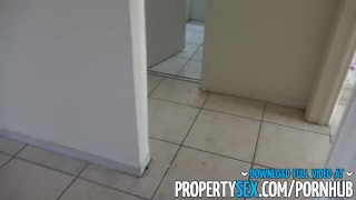 Preview 2 of PropertySex - Hot chick busted squatting empty apartment fucks landlord
