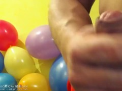 Muscle Cock Inflating Balloons.