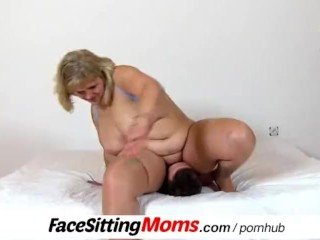 Face sitting with big naturals boobs mom Anna