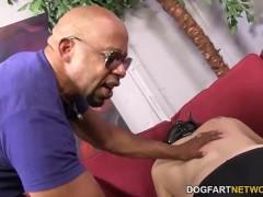 Cuckold slut Leya Falcon takes anal pounding