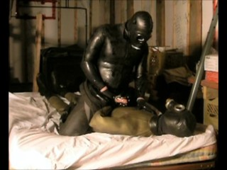 Latex catsuit under wetsuit domination