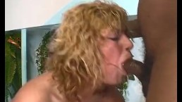 Curly Blonde Cock Sucker Gags
