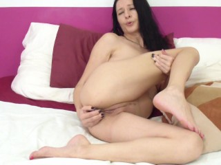 anal and douple play with toys