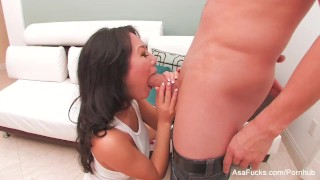 Sexy Asa Akira swallows his cum swallow hardcore socks asian blowjob gagging babe pornstar puba cumshot asaakira tattoo japanese big-boobs asafucks big-dick doggy style skinny cum-in-mouth