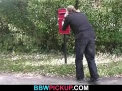 Heavy BBW rides his horny dick