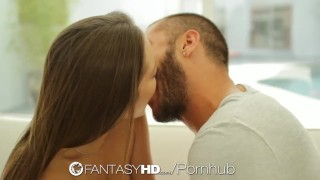 FantasyHD - Dani Daniels shows guys hard cock who is boss