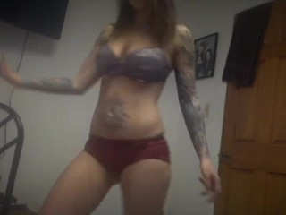 Sexy Dancing Felicity Feline Inked and Fit to Homemade Trap Music