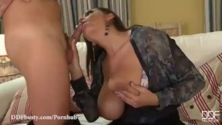 Busty Milf gets the gift of anal plus a hot cum Necklace!