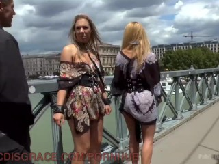 Blonde Gets Double Penetration In Public