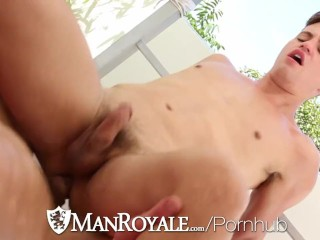 ManRoyale - Joey Cooper Fucked in his Bubble Butt by Trenton Ducati