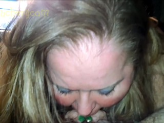 Fatty BBW MILF CAM Girl Sucks Cock like an Ugly Deepthroat BJ Whore