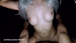 Homemade Lydia Luxy taking 4 creampies!