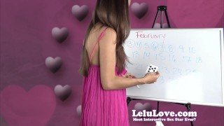Lelu Love - February 2016 Cum Schedule