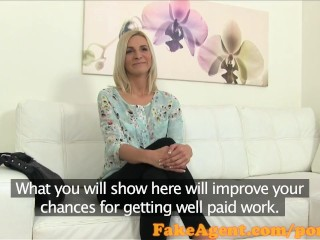 FakeAgent Actress fucks to get dream job in casting