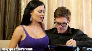 British MILF Jasmine Jae Fucks Immigration Officer