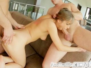 Asstraffic Tina Hot enjoys anal threesome