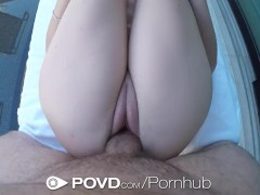 POVD - Outdoor fucking in pov with young Bella Skye