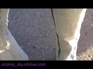 Pissing my pants in walmart parking lot- andrea sky