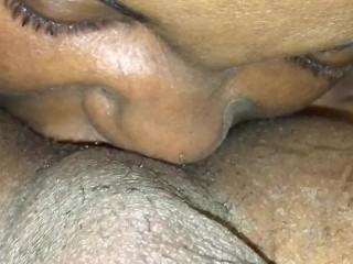 Pleasing him (ass eating)