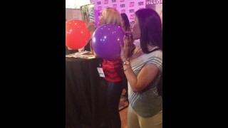 Rachel Starr & Alexis Fawx have a blowing competition at AVN