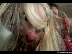 Barra bound gagged spanked whipped dildoed machine-fucked
