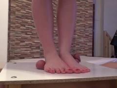 Bafe Feet Cock and balls trampling massage