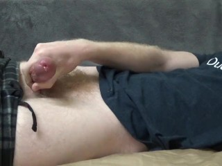 Cute Young Guy Cumming Hard On His Shirt - JohnnyIzFine