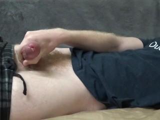 Cute Young Guy Cumming Hard On His Shirt - JohnnyIzFine