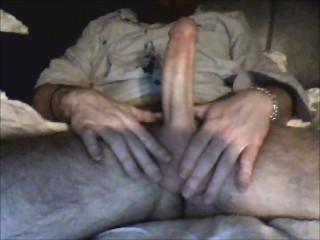 Caught jerking off leads to fucking and cum SQUIRTING