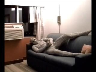 snake jerks off in hotel room