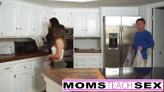 Preview 1 of Mother fucks son and tiny Latina girlfriend