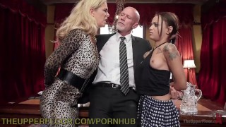 Step-Mother And Step-Daughter Domination small 3some domination milf big tits kink blonde theupperfloor stepmother big boobs bdsm gagged bondage small tits punish brunette stepdaughter face slapped petite