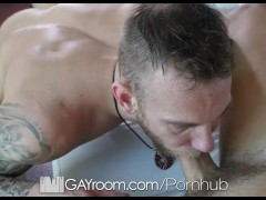 GayRoom - Jay Fine Pounds Damien Michaels with his 10 Inch Dick