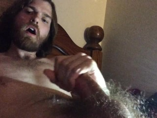 Enjoying my cock