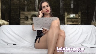 Lelu Love-Finishing You With FemDom Triple Threat  denial homemade hd chastity cei masturbate amateur solo leather instruction fetish domination encouragement lelulove brunette natural tits flashing lelu love
