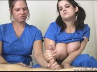 Nurses extract a huge cumshot