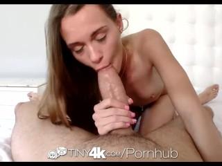 Tiny4K - Thin Kacy Lane deepthroats a huge dick