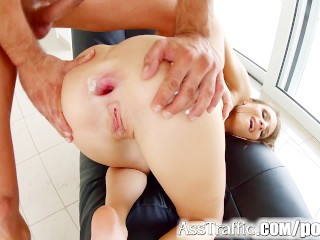 Tall brunette Mary Wet anal hardcore on Ass Traffic