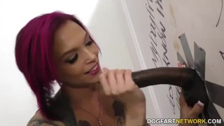 Anna Bell Peaks gets creampied at Gloryhole  big black cock big tits big cock creampie blowjob gloryhole fetish busty hardcore interracial dogfartnetwork deepthroat big boobs glory hole tattoo fake tits