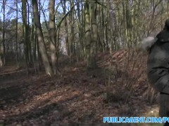 : PublicAgent Sales lady has sex in a forest