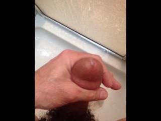 cum in the shower hard wet cock