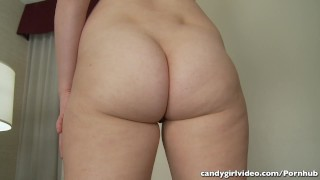 Addie Juniper models several micro bikinis with tons of cameltoe & booty