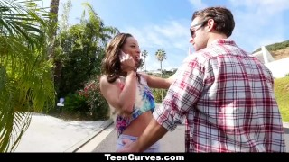 Preview 2 of TeenCurves - Curvy Caramel Skinned Hottie Fucked By A Blind Man