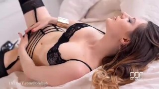 Preview 2 of Luxury slut double dongs both holes till she cries