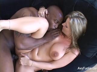 Busty MILF Avy Scott gets some black cock
