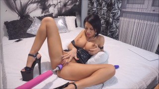 Anisyia Livejasmin Latex Extreme High-Heels ANAL blowjob fucking-machine big cock fucking machine big tits big ass romania latex sex machine tattoo recorded private anal brunette ass fuck fetish extreme high heels petite