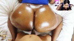 Ebony Glazed Doughnut Butt Getting WORKED - Nude Facial / Hardcore Sex