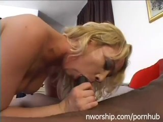 blonde girl threesome with two big black cocks anal double penetration
