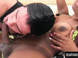 Shemale Cintia fucks him bareback