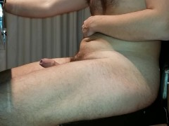 Erection and Cumming Hands Free Watching Porn